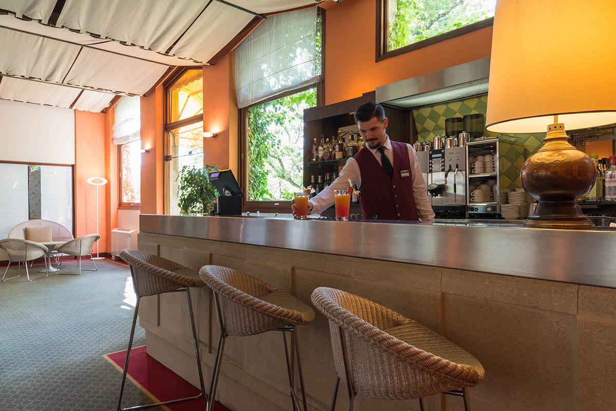 L'Hôtel Villa Borghese à Gréoux-les-Bains (04800) dispose d'un bar ouvert 24h sur 24h