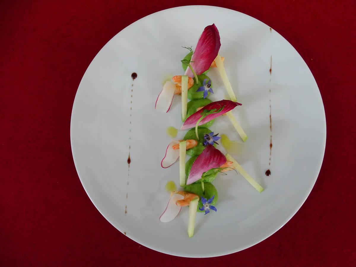 Plat Gastronomique au restaurant de l'Hôtel Villa Borghese à Gréoux-les-Bains (04800)