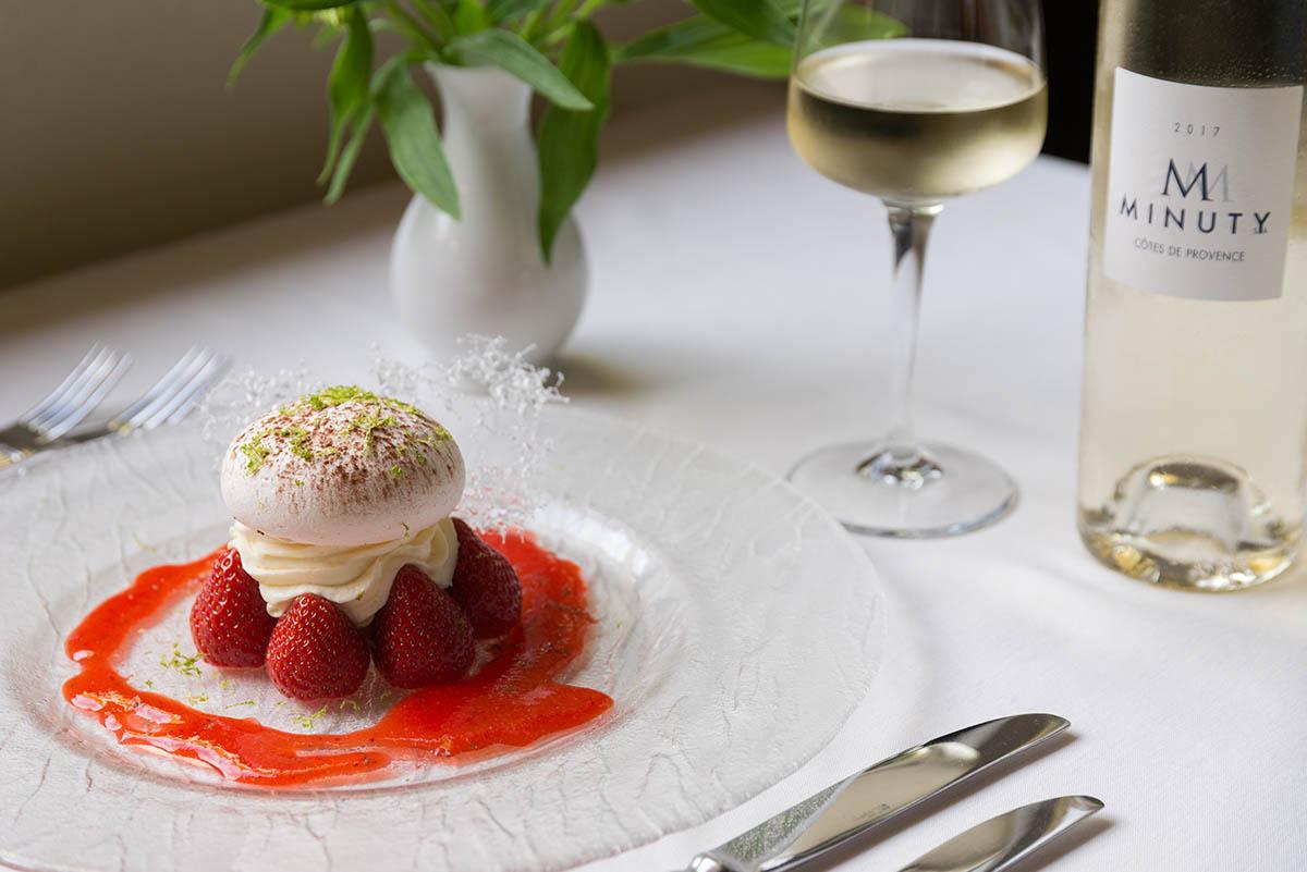 Dessert Gastronomique au restaurant de l'Hôtel Villa Borghese à Gréoux-les-Bains (04800)