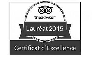 Label Trip Advisor Hôtel Villa Borghese à Gréoux-les-Bains (04800)