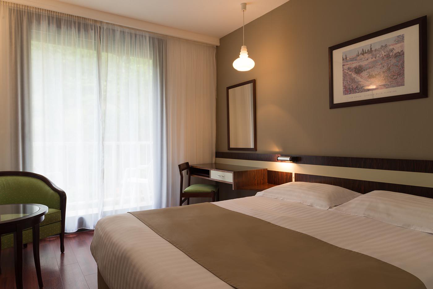 Chambres confort double de l'Hôtel Villa Borghese à Gréoux-les-Bains (04800)