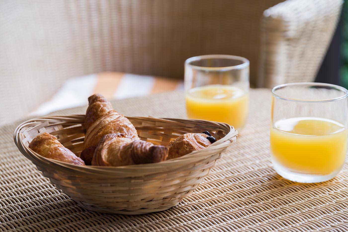 Petit déjeuner à l'Hôtel Villa Borghese à Gréoux-les-Bains (04800)